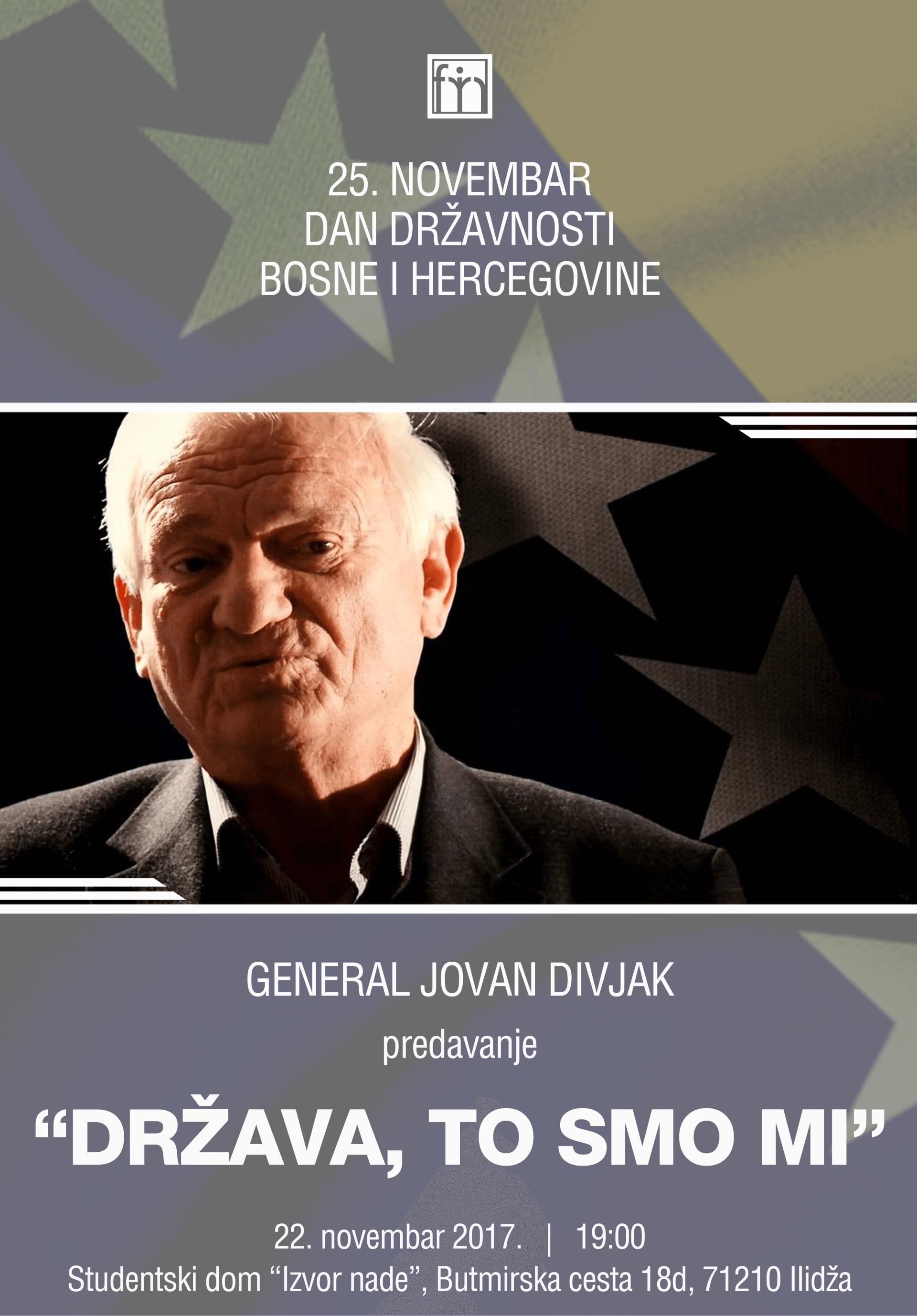 Jovan Divjak plakat 2017 Dan drzavnosti BiH web