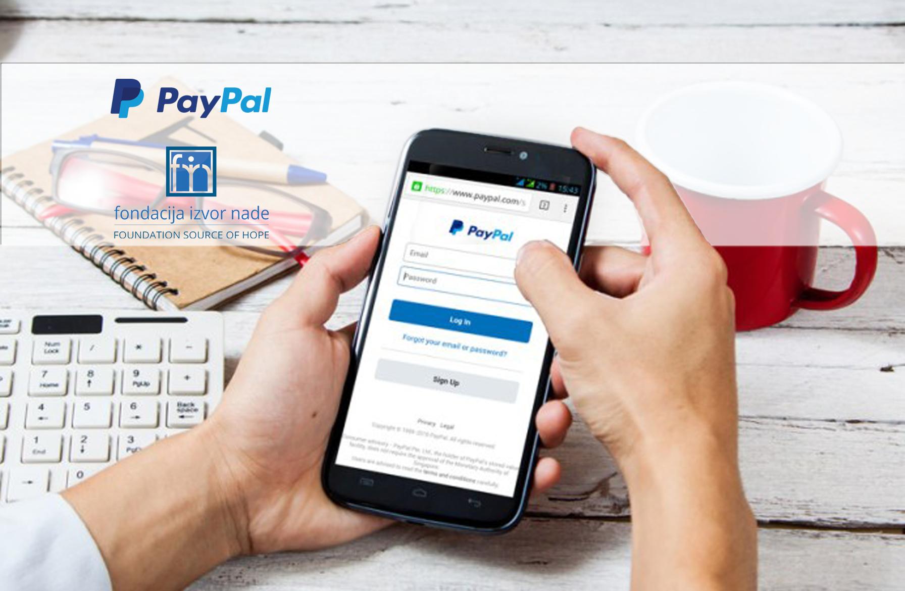 PayPal Fondacija Izvor nade
