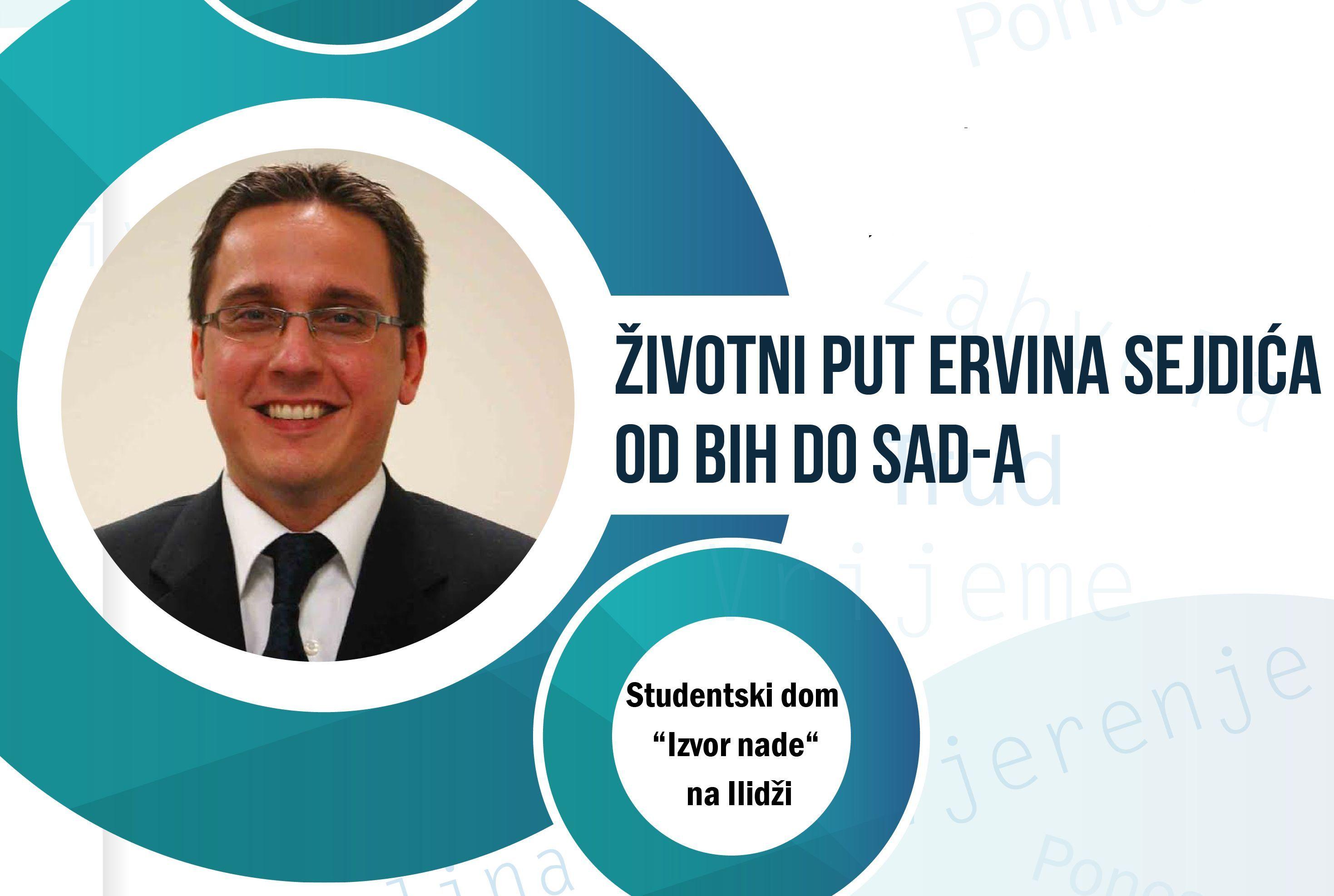 "Ervin Sejdic, najava predavanja u Studentskom domu ""Izvor nade"""
