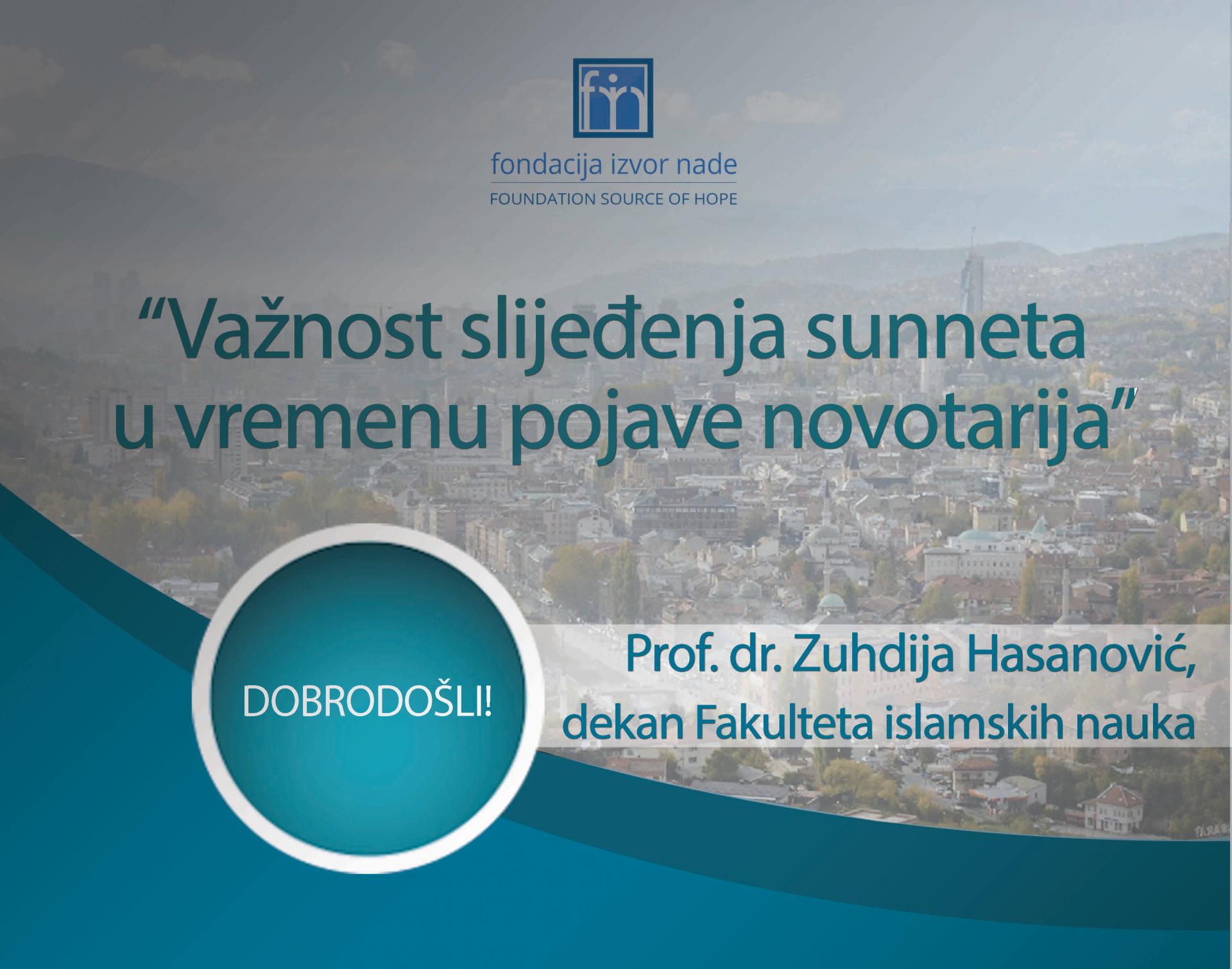 "Zuhdija Hasanovic predavanje u Studentskom domu ""Izvor nade"""