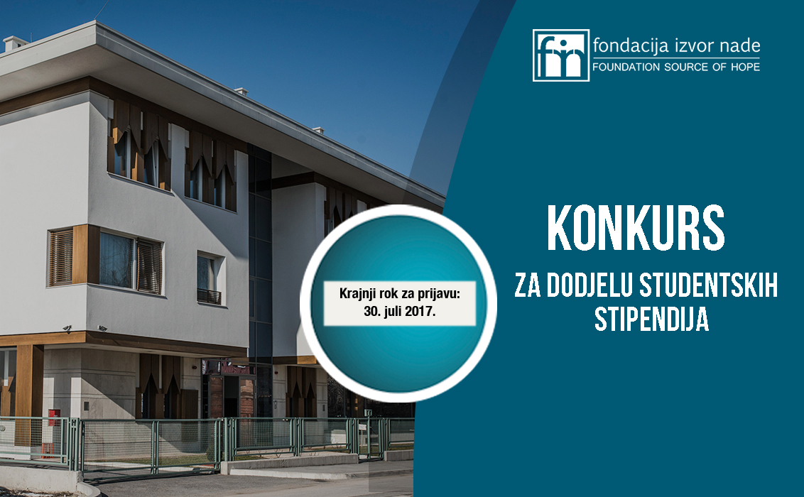 Konkurs za dodjelu studentskih stipendija u 2017/2018. - Fondacija Izvor nade