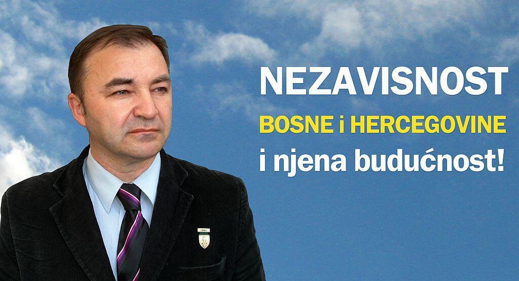 Plakat Velid Bajramović, predavanje u Fondaciji Izvor nade Sarajevo, 26.2.2019.