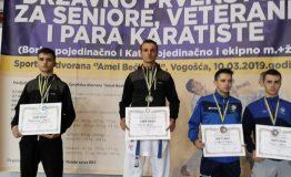 Ervin Galic karate prvak BiH 10.3.2019. pobjednicko postolje