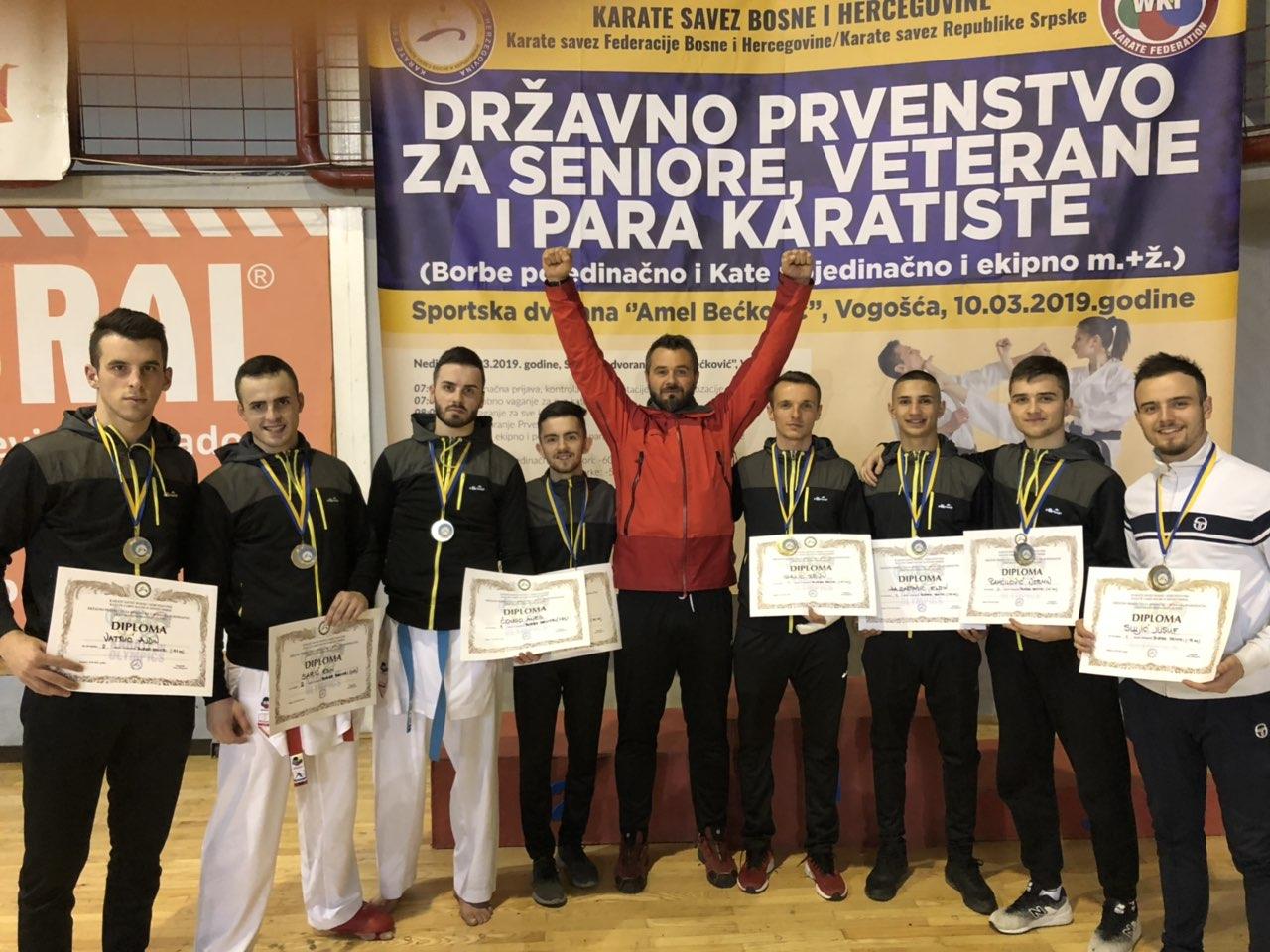 Ervin Galic karate prvak BiH - najbolja ekipa