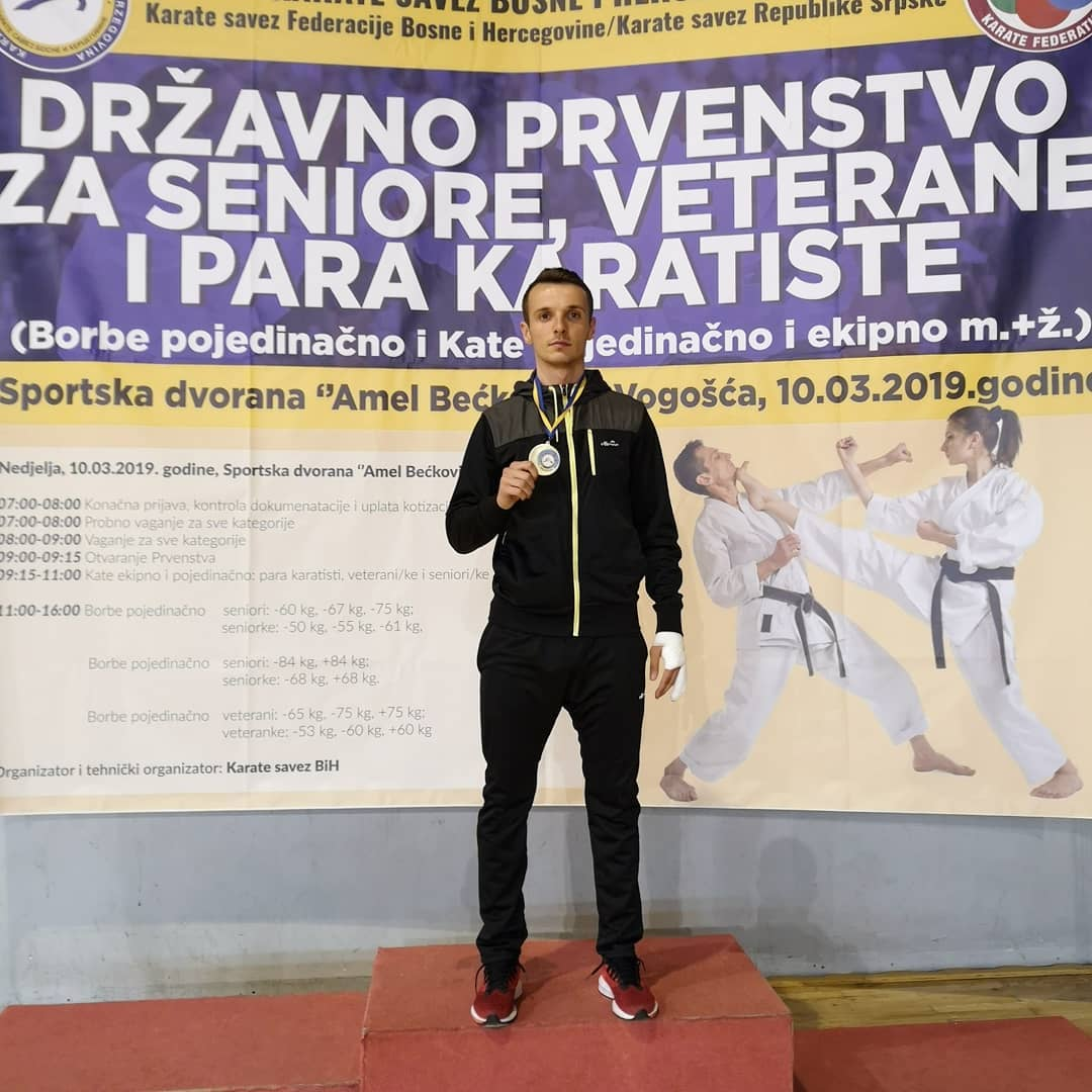 Ervin Galic karate prvak BiH, 10.3.2019.