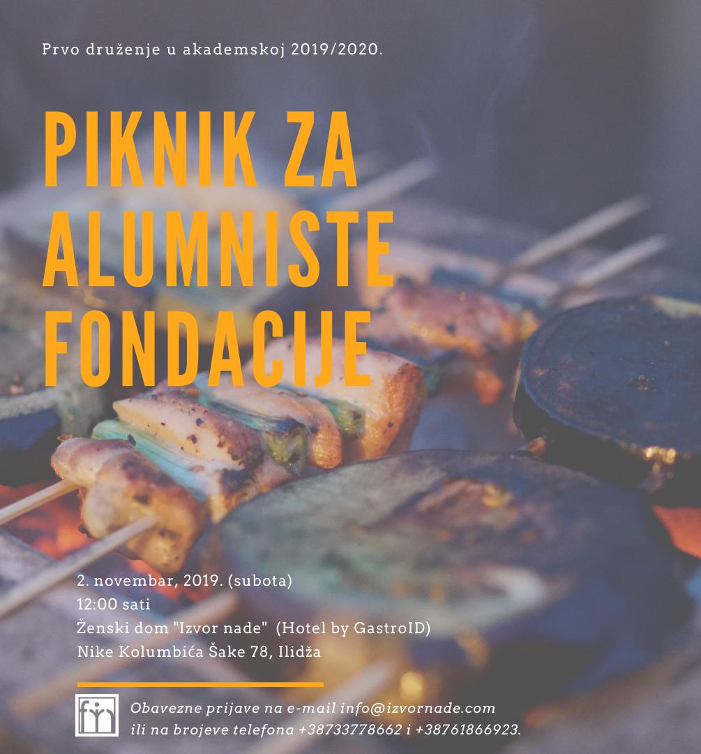 Druženje i piknik za alumniste Fondacije Izvor nade 2.11.2019.