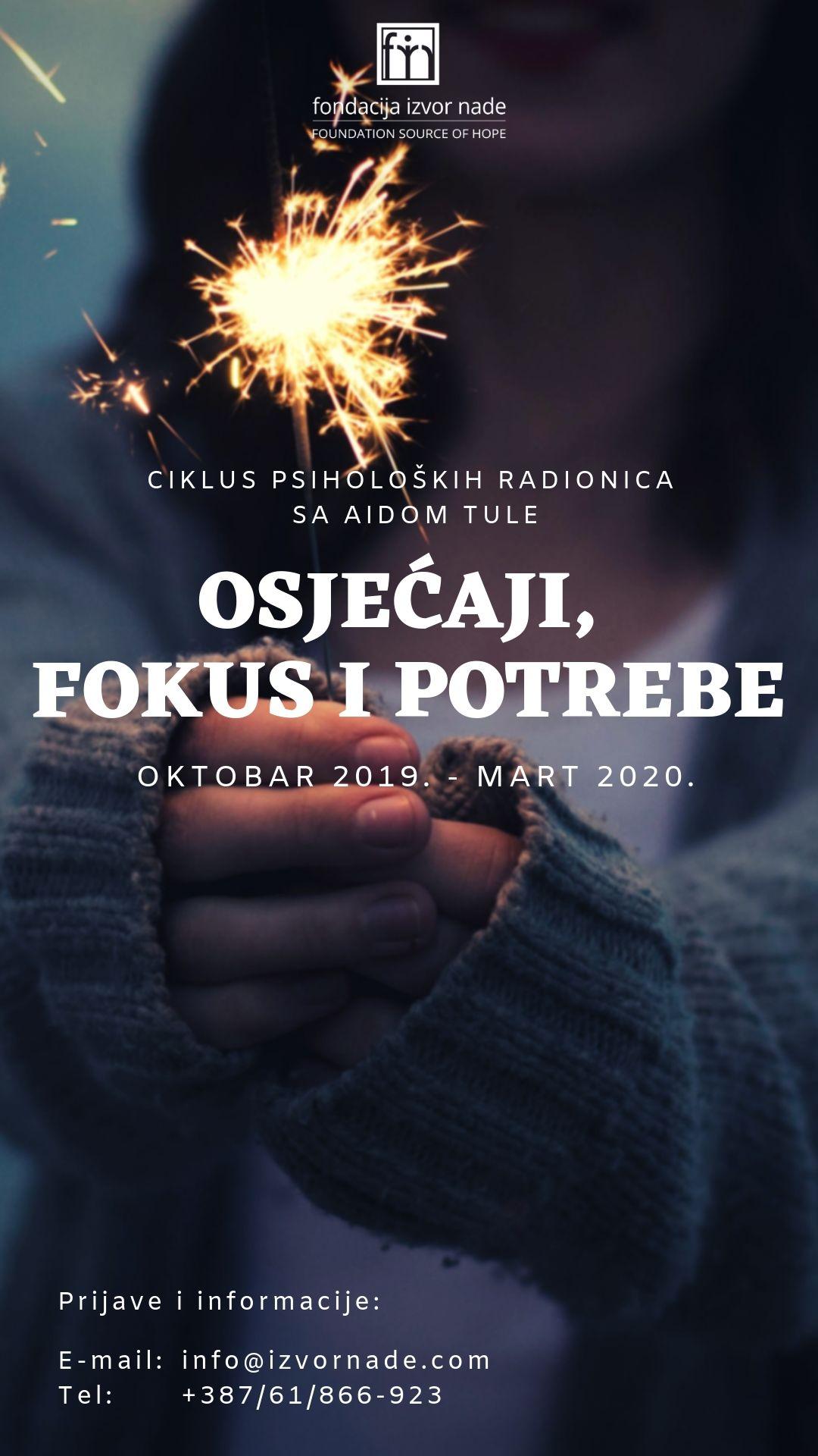 Psihološke radionice Osjećaji, fokus i potrebe - Aida Tule, Fondacija Izvor nade, plakar