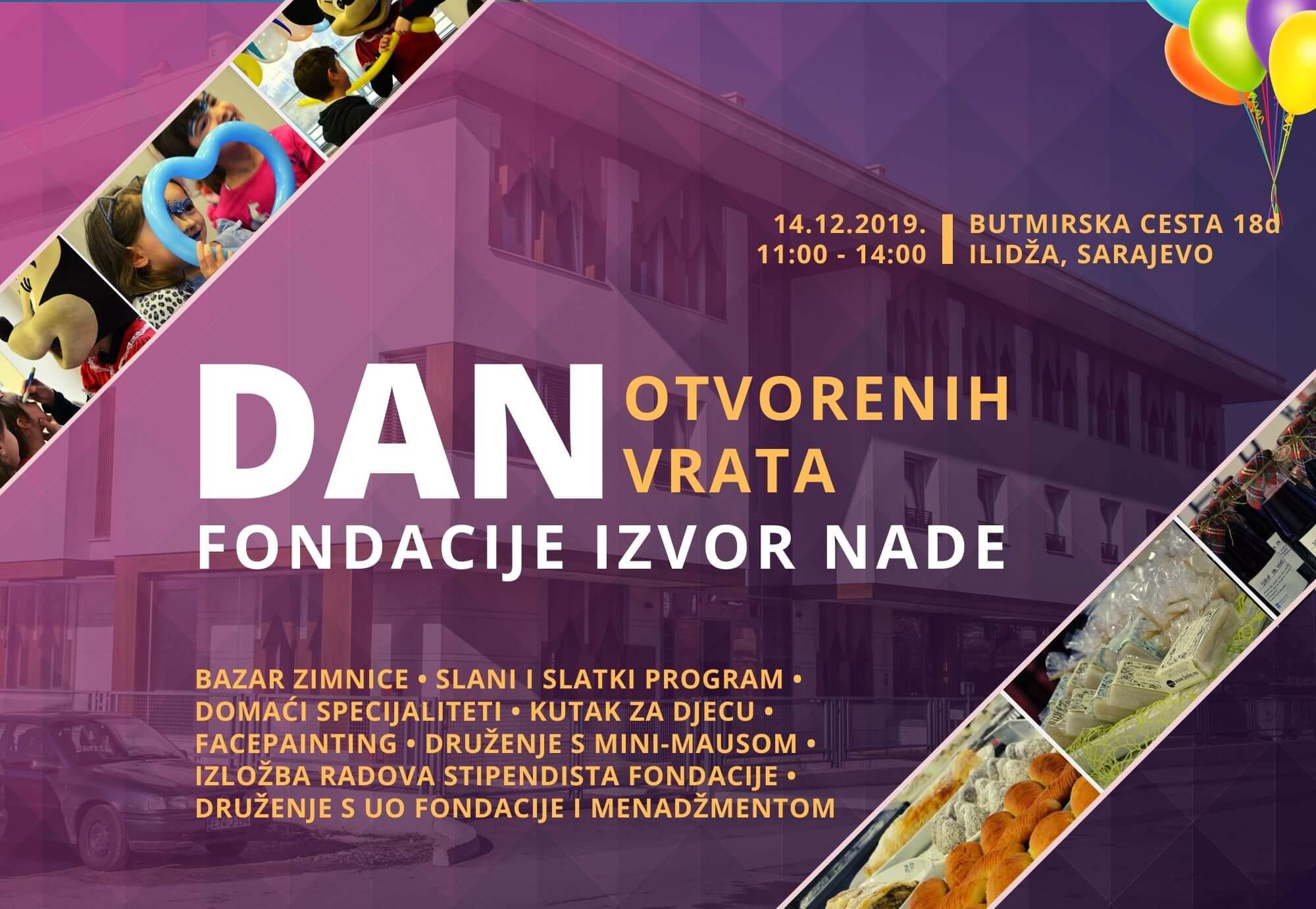 Plakat za Dan otvorenih vrata Fondacije Izvor nade 2019.